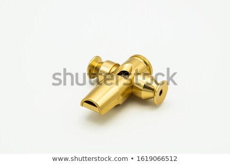 Szamba cső sárgaréz sötét hát zene Stock fotó © prill