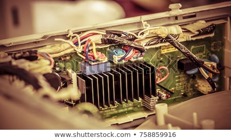 számítógép · alkatrész · közelkép · lövés · forró · műanyag · elektronikus - stock fotó © prill
