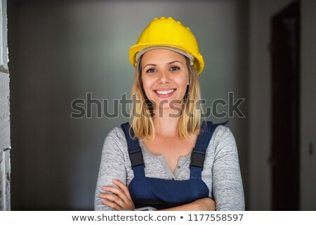 portrait of woman with construction helmet stock photo © photography33