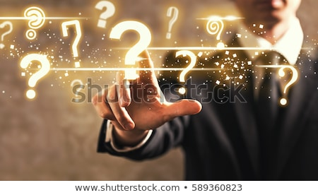 Businessman on question mark Stock photo © icefront