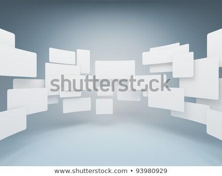 Galerie gris mur lumière design Photo stock © tashatuvango