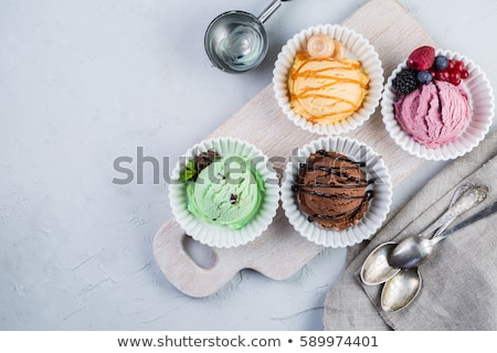 Délicieux ananas dessert crème chocolat fruits Photo stock © photovibes