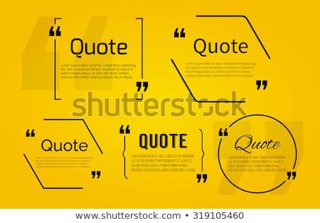 Speech Balloon Design Elements Stock photo © lenm