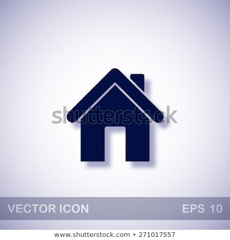 casa · ícone · escuro · azul · isolado · preto - foto stock © zeffss