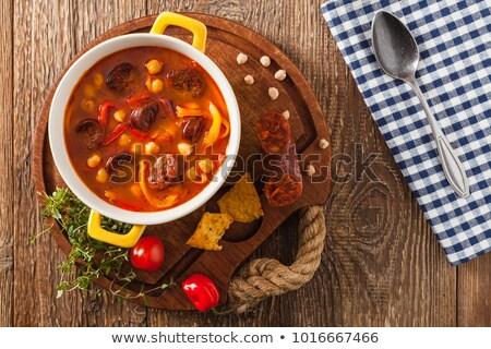 Espagnol saucisse viande carottes pommes de terre alimentaire Photo stock © Marcogovel