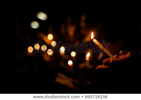 budizm · mum · ışık · iz · tapınak - stok fotoğraf © witthaya