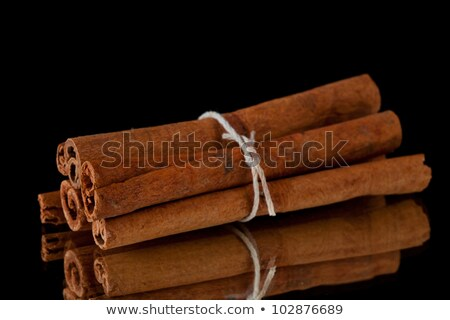 cinnamon sticks packed together against a black background stock photo © wavebreak_media