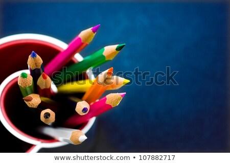 renk · kalemler · cam · ahşap · masa · kalem - stok fotoğraf © grafvision