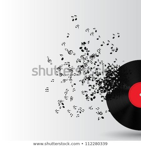 Absztrakt zene illusztráció terv bakelit jegyzet Stock fotó © maxmitzu
