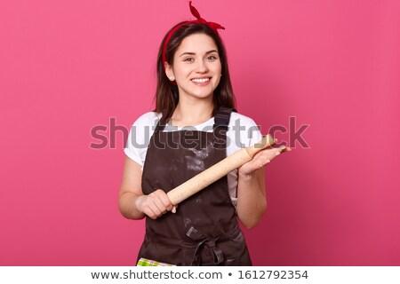 Szczęśliwy kobiet kucharz wałkiem portret Zdjęcia stock © wavebreak_media