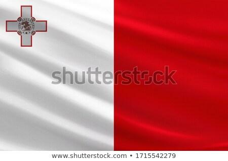 Tejido textura bandera Malta azul arco Foto stock © maxmitzu