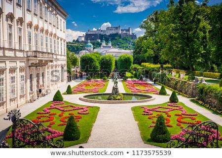 Saray bahçeler çim bahçe yaz seyahat Stok fotoğraf © frank11