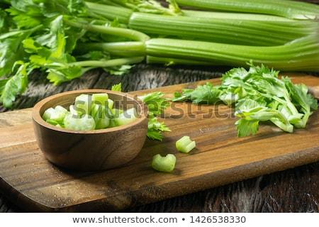Zeller friss vágódeszka levél zöld növény Stock fotó © saddako2