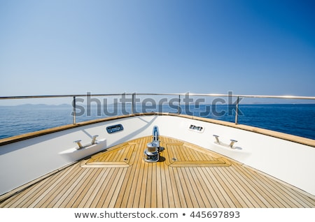 Front bow of a yacht Stock photo © Discovod