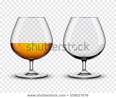 Brendi cam zarif siyah şarap içmek Stok fotoğraf © taden