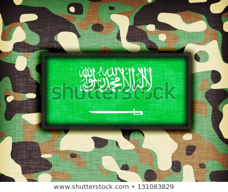 Camouflage uniform Saoedi-Arabië vlag textuur abstract Stockfoto © michaklootwijk