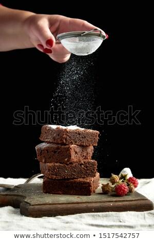 сахар · куча · сахарная · пудра · металл · студию · ингредиент - Сток-фото © mkucova