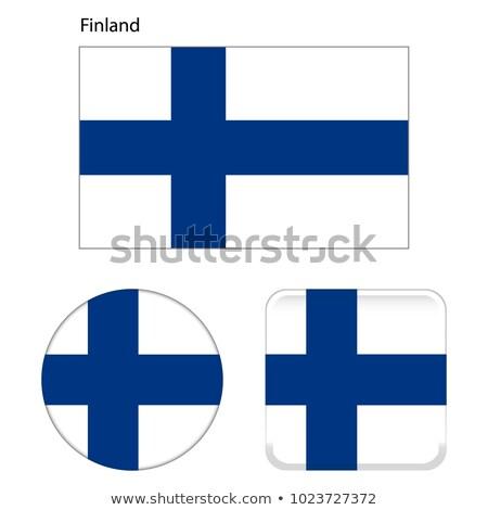 フィンランド フラグ ボタン 黒 キーボード コンピュータのキーボード ストックフォト © tashatuvango