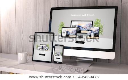 teia · responsivo · web · design · horizontal - foto stock © burakowski