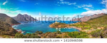 пейзаж Корсика старые каменные форт холме Сток-фото © smuki