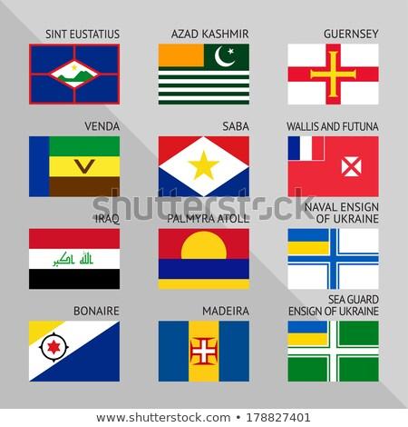 Bandeiras mundo conjunto número 17 assinar Foto stock © Ecelop