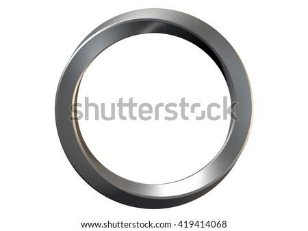 бесконечный металл кольца 3D генерируется фотография Сток-фото © flipfine