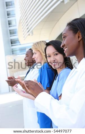 verpleegkundige · arts · vrouwen · wetenschap · stethoscoop - stockfoto © bmonteny