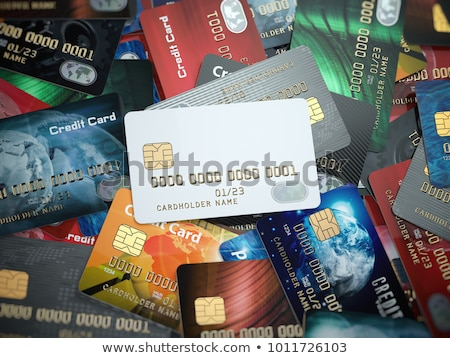 multiple blank credit cards close up stock photo © simpson33