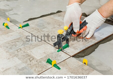 Stock photo: Reconstruction of the floor