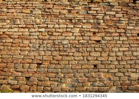 古代 · 石 · 壁 · 青空 · テクスチャ - ストックフォト © discovod