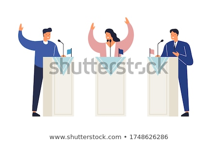 political candidate at podium stock photo © iqoncept