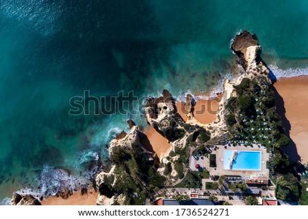 美しい · 崖 · ポルトガル · 海岸 · 風景 · ビーチ - ストックフォト © aitormmfoto