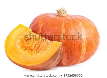 citrouille · tranche · isolé · blanche · fond · légumes - photo stock © pixachi