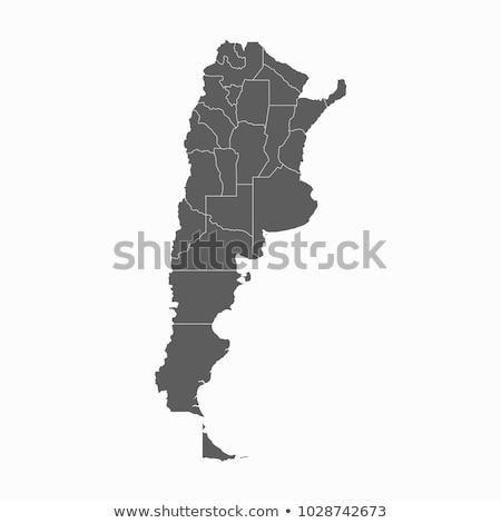 Sziluett térkép Argentína felirat fehér felirat Stock fotó © mayboro