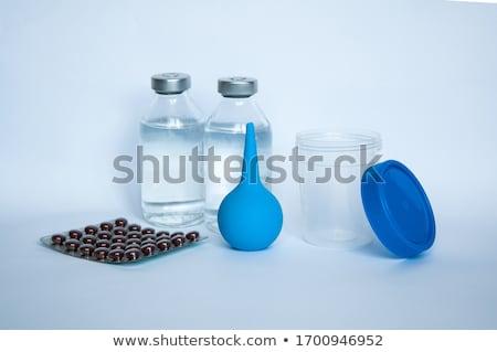 Constipation  on the Display of Medical Tablet. Stock photo © tashatuvango
