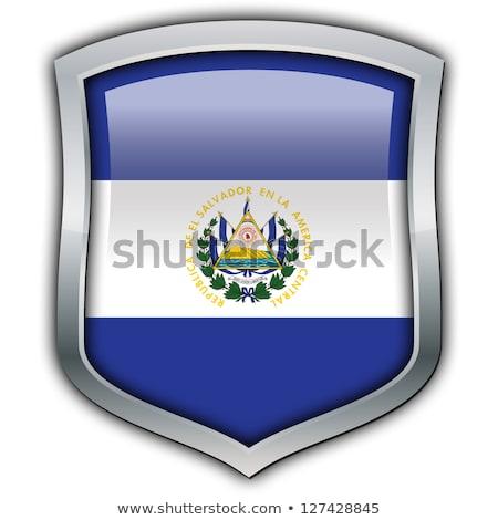 bayrak · El · Salvador · örnek · katlanmış · dünya · Metal - stok fotoğraf © mikhailmishchenko