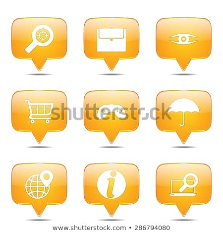 SEO Internet Sign Square Vector Yellow Icon Design Set 10 Stock photo © rizwanali3d