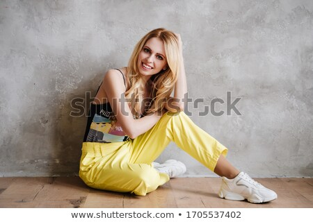 романтические · девушки · белая · блузка · изолированный · черный - Сток-фото © ozaiachin