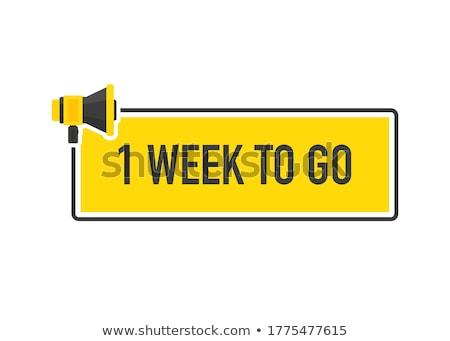 Semana ofrecer amarillo vector icono diseno Foto stock © rizwanali3d