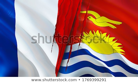 France and Kiribati Flags  Stock photo © Istanbul2009