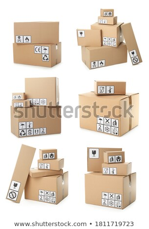 Diferente cajas ilustración blanco fondo cuadro Foto stock © get4net