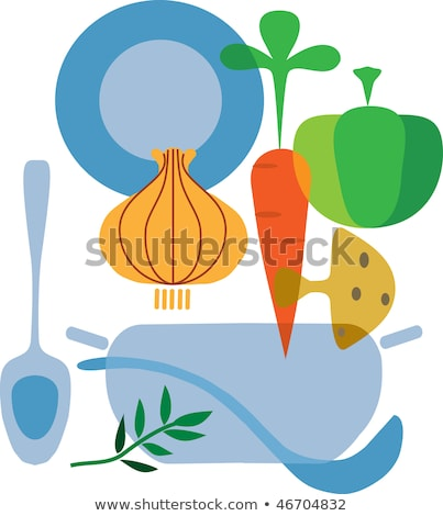 Bowl of healthy leek and carrot casserole Stock photo © ozgur