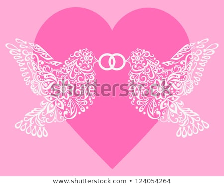 family tree with heart rings vector stock photo © beaubelle