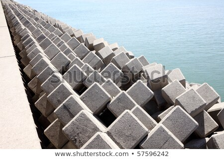 Sea concrete block dam  Stock photo © smuki