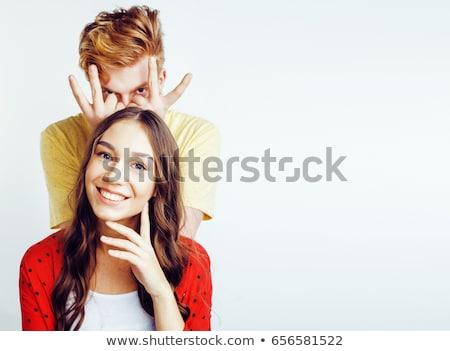 Stockfoto: Cool · paren · twee · poseren · liefde