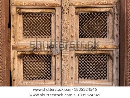 красивой старые Живопись архитектура домах индийской Сток-фото © meinzahn