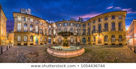 Fountain on Albertas square, Aix-en-Provence Stock photo © meinzahn
