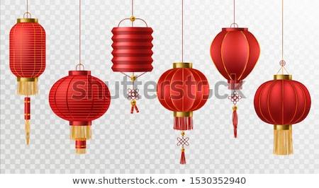 Kínai lámpások illusztráció piros japán esemény Stock fotó © adrenalina