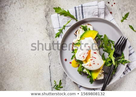 sandwich with avocado and poached egg stock photo © m-studio