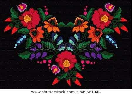Floral folk ornament Stock photo © kariiika